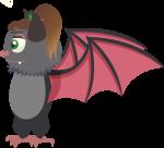 Fiona de Vleermuis zijaanzicht